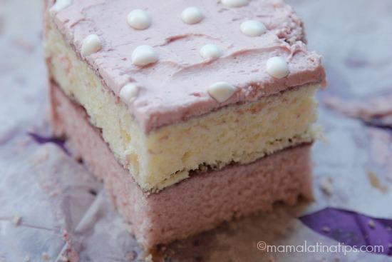 White and purple cake by mamalatinatips.com