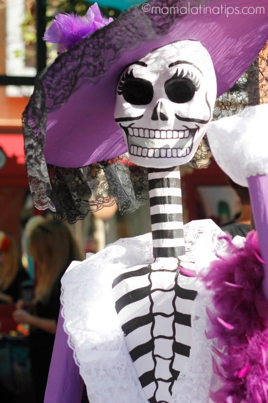 Día de Muertos 2015 Purple catrina by mamalatinatips.com