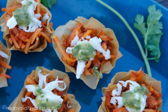 chorizo potato bites appetizers - mamalatinatips.com