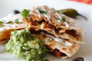 Nacho quesadillas (Quesadillas al estilo nachos)