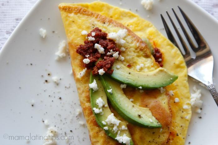 soy chorizo omelet