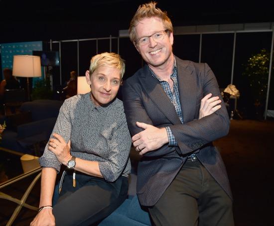 Ellen Degeneres and Andrew Stanton - Finding Dory - mamalatinatips.com