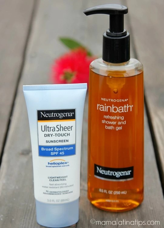 Neutrogena bath gel and sunscreen - mamlalatinatips.com