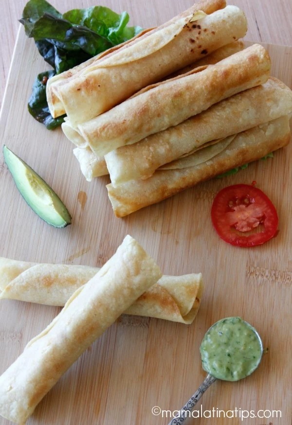 Potato Flautas by mamalatinatips.com