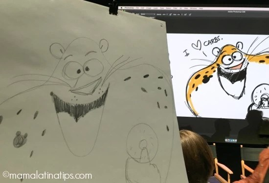 Learn how to draw a zootopia character - Officer Clawhauser - mamalatinatips.com