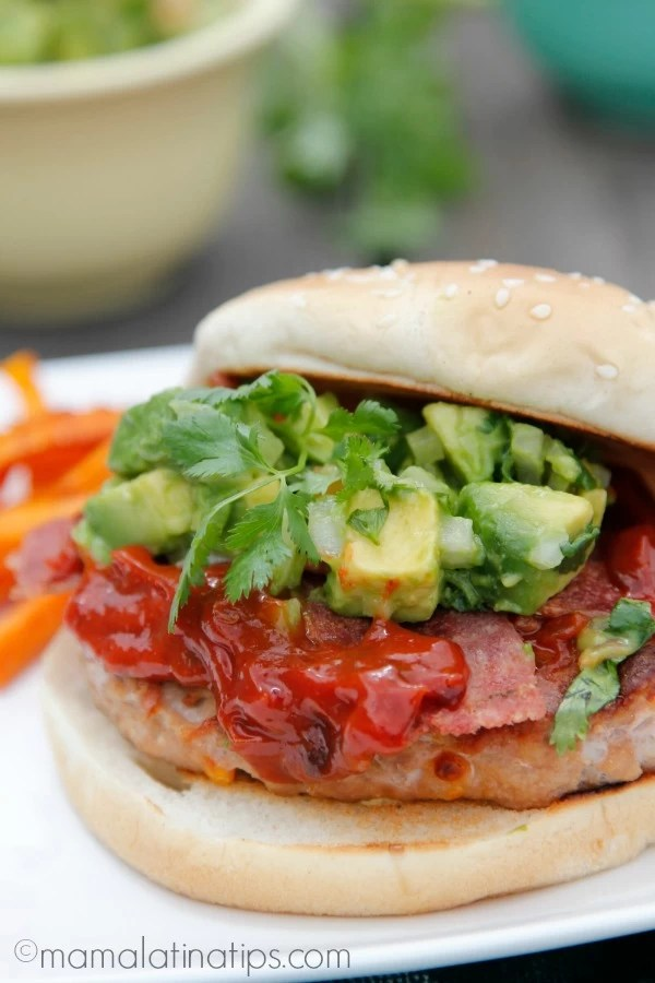 Turkey Bacon Chipotle Burgers