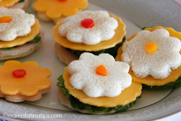 sandwiches de flores - mamalatinatips.com