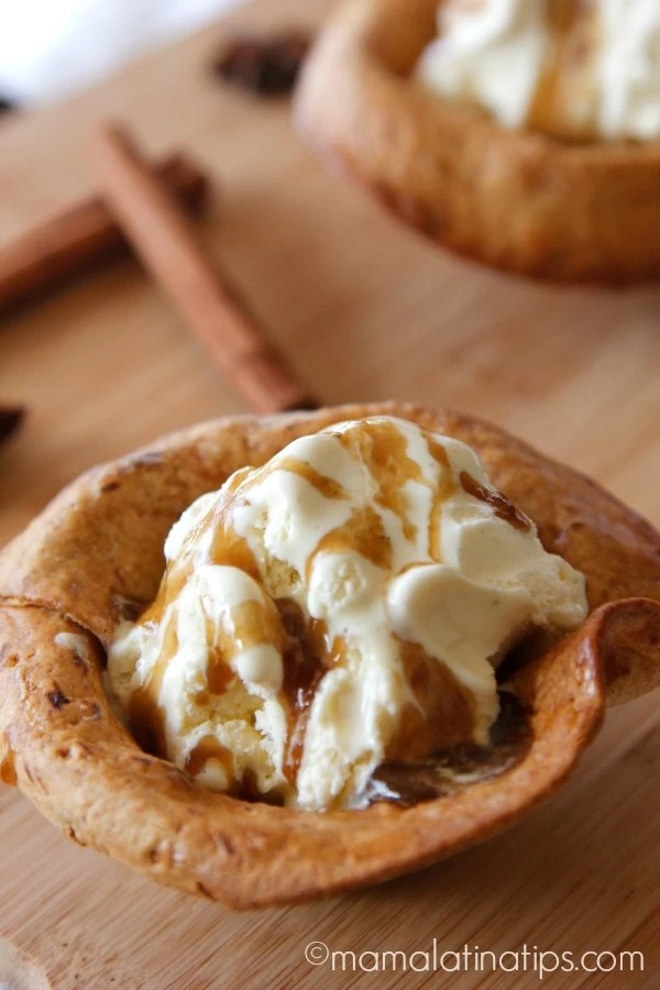 Buñuelo Style Ice Cream Basket - mamalatinatips.com