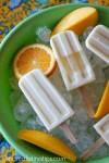 orange tangerine mango cream ice pops