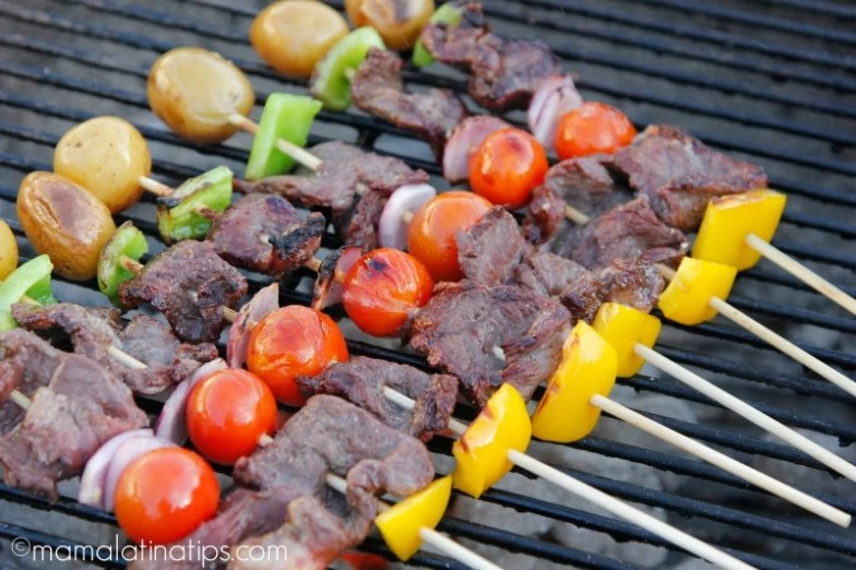Angus Beef Kabobs on the grill