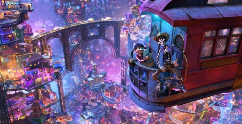Pixar Coco Scene Hector and Miguel