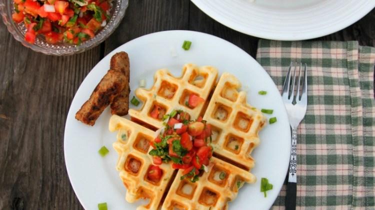 Waffles Salados de Camote
