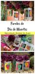 Faroles de Día de Muertos hechos con bolsas de jugo. Enseña a tus hijos la importancia del reciclado y pasen un rato divertido creando estos faroles para el Día de Muertos.