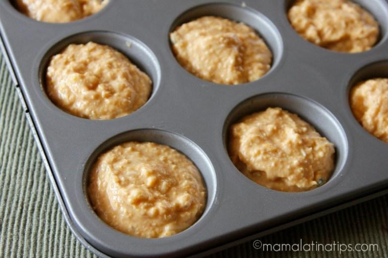 Pumpkin Cornbread muffins by mamalatinatips.com