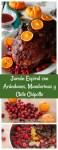 Jamón Espiral con glaseado de arándanos, mandarinas y chile chiipotle. Un platillo ideal para tus cenas de Día de Gracias o Navidad. El glaseado le da un sabor un poco picoso y agridulce al jamón. Una receta fácil y rápida.