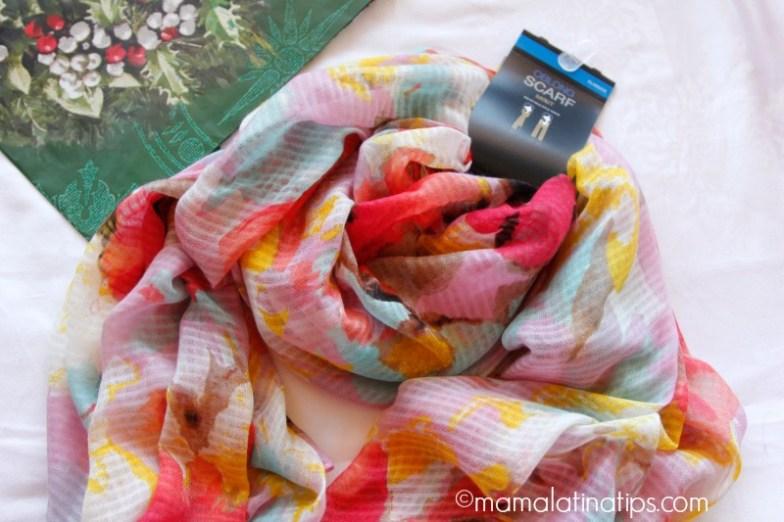 Mascada o bufanda de colores cálidos