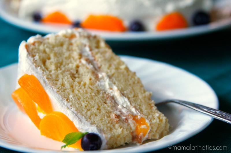 Tres leches cake slice