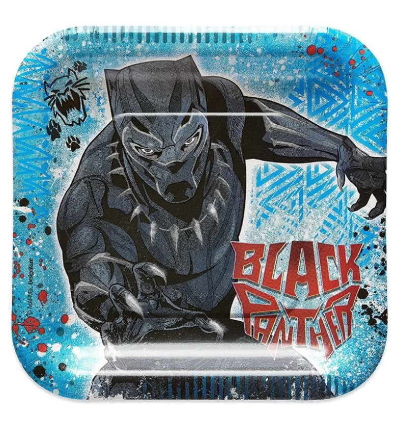 Platos desechables de Black Panther