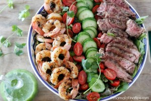 Grilled surf and turf salad