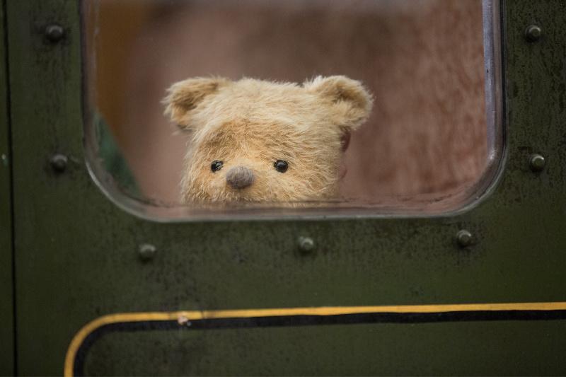 Winnie the Pooh in a train
