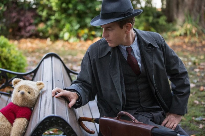 Christopher Robin and Winnie the Pooh at the Park