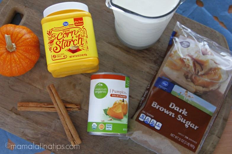 Pumpkin atole ingredients