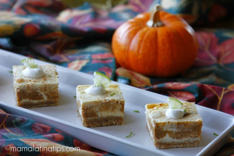 marbled pumkin lime cheescake bars