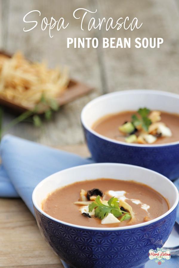 Pinto bean soup - Sopa Tarasca