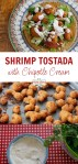 Shrimp tostadas with chipotle cream pin