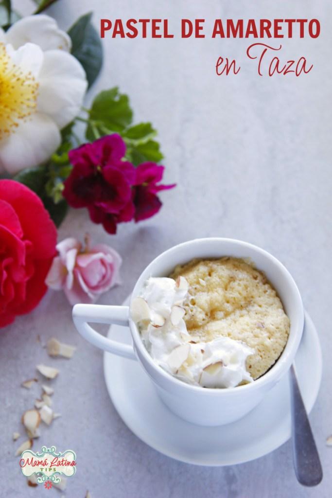 Pastel de Amaretto en Taza