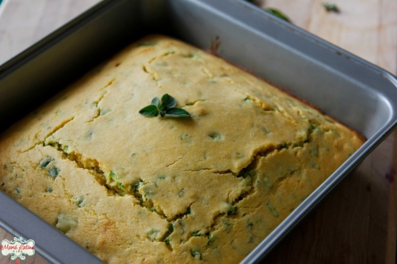 Fresh baked herbed jalapeño cornbread