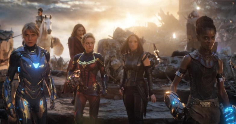 Scene of Avengers Endgame. The women of MCU