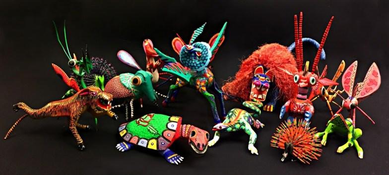 Obra de Escultura Artesanal Gu\u00eda Espiritual Alebrije Pepita V