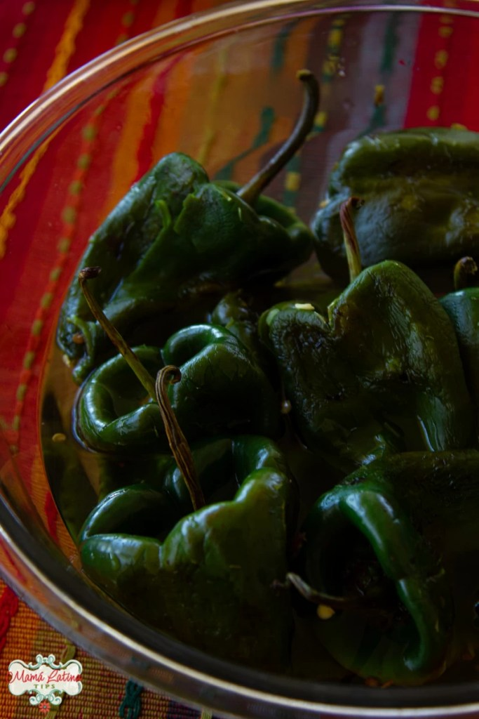 poblano peppers in vinegar
