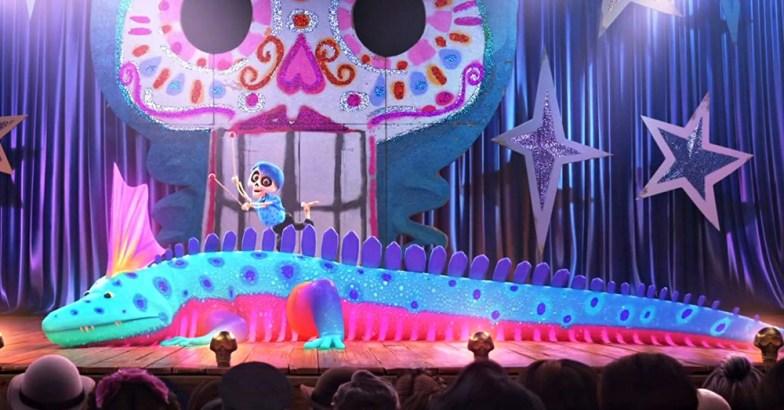 Escena de la película de Pixar Coco, alebrijes