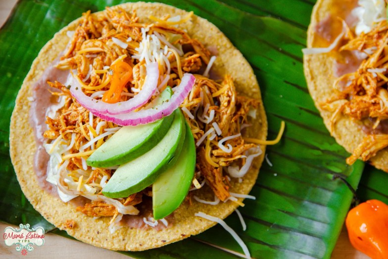 Chicken Pibil Tostadas