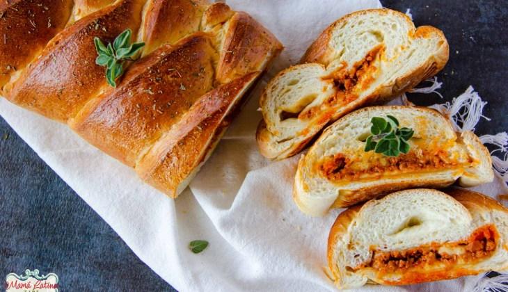 Vegetarian Chorizo Cheese Braid