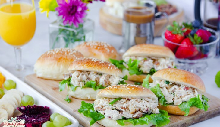 Macadamia Bacon Chicken Salad with Date Sandwiches