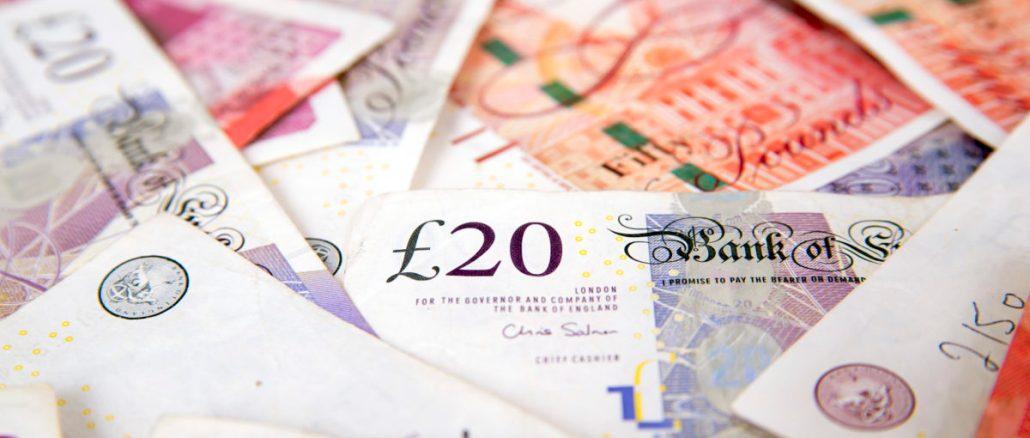 money, finance, sterling, pound notes