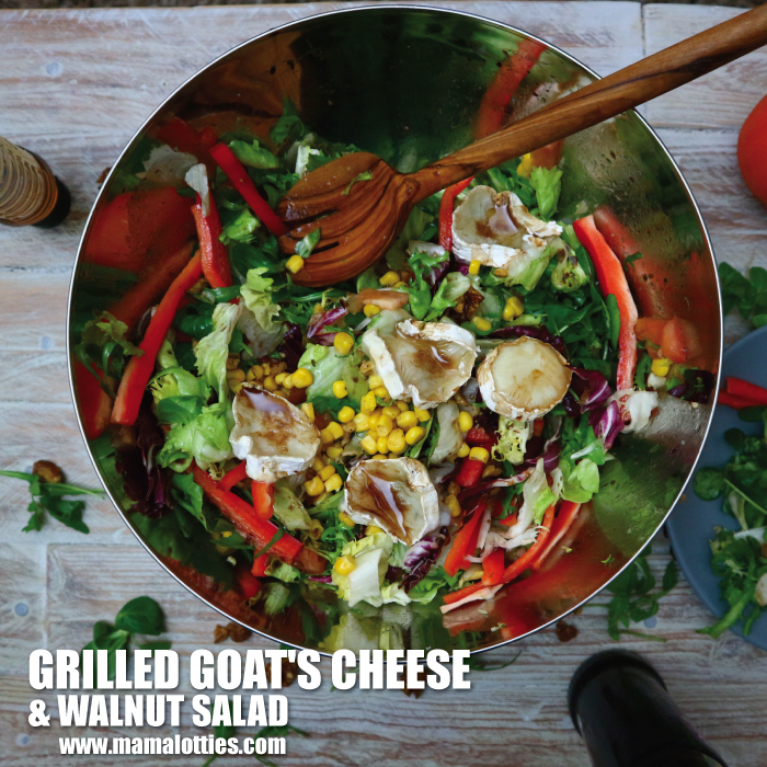 Grilled Goat's Cheese and Walnut Salad