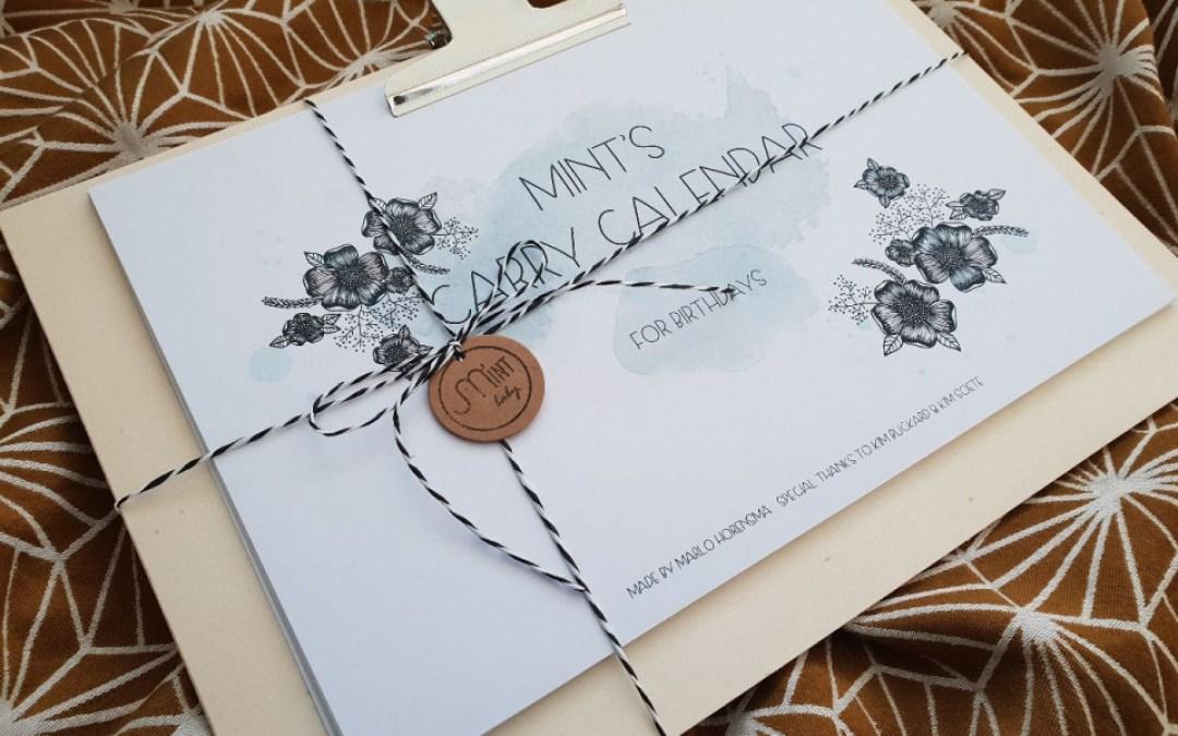 Mint Baby Draagkalender | draaggerelateerde verjaardagskalender