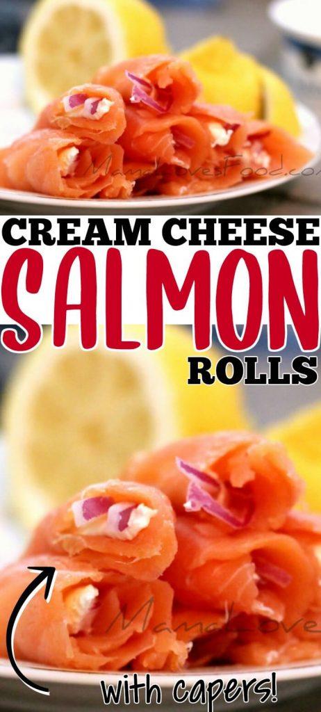 CREAM CHEESE AND SALMON ROLLS