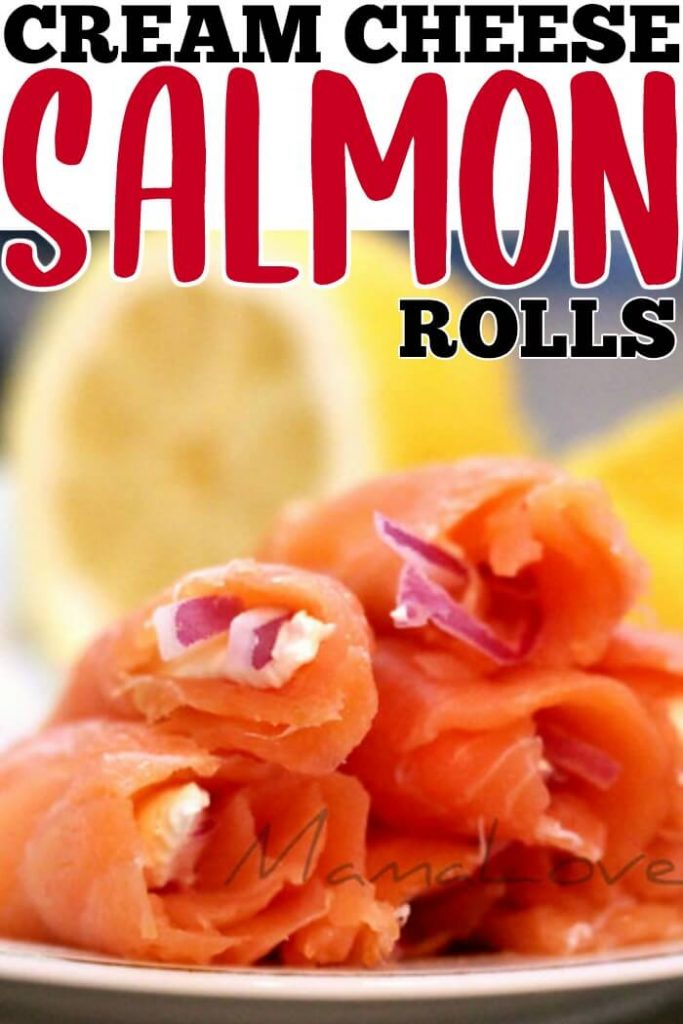 SALMON ROLLS WITH CREAM CHEESE AND CAPERS