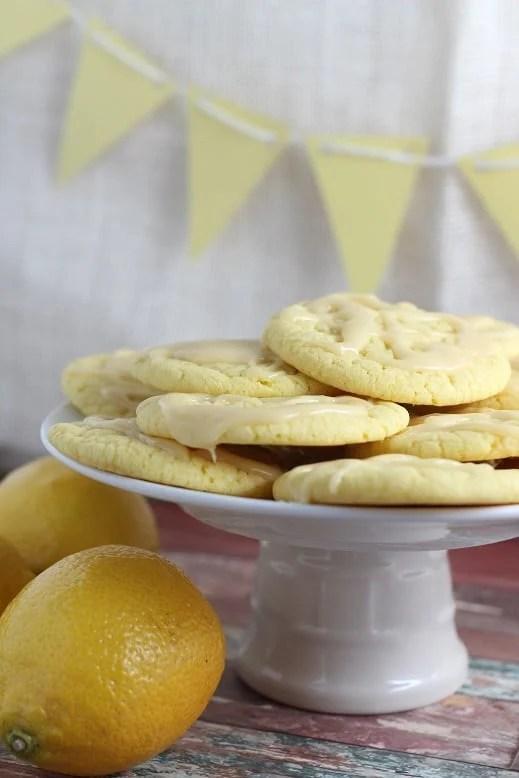 Lemon Cakebox Cookies with Honey Lemon Glaze