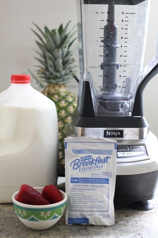Strawberry Vanilla Breakfast Milkshake