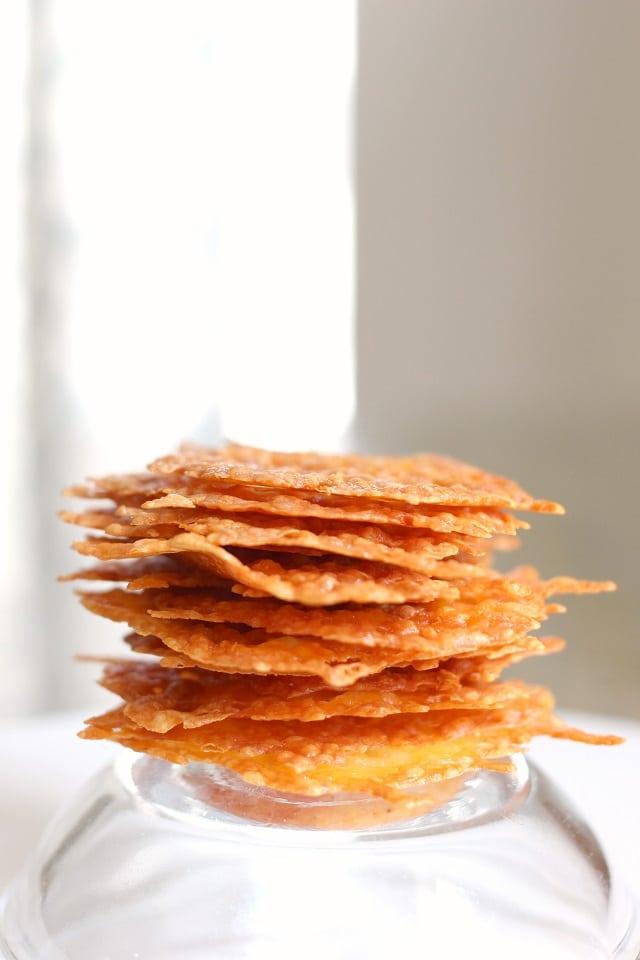 Healthy Baked Cheese Crisp Recipe