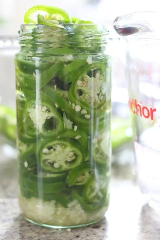 Pickled Garlic Jalapenos