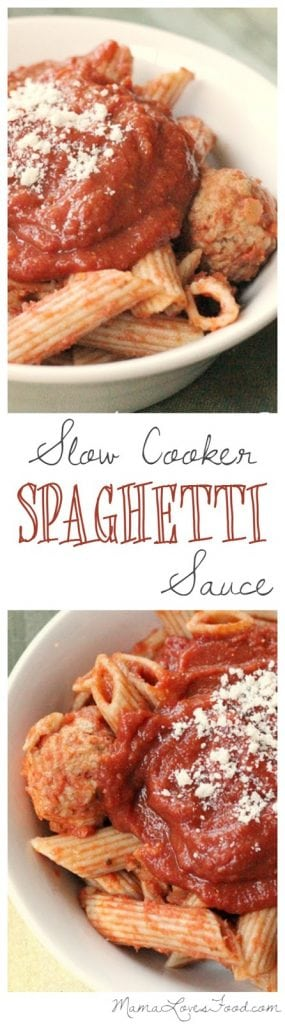 Slow Cooker Spaghetti Marinara Sauce Recipe.