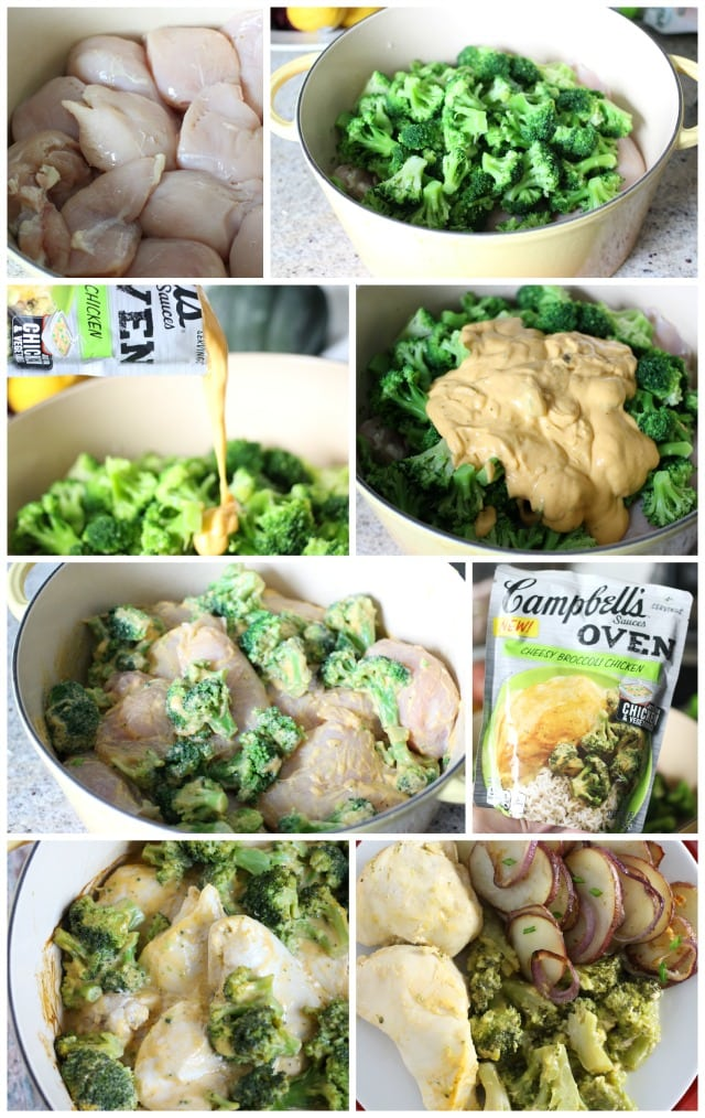 Cheesy Broccoli Chicken with Campbell's Oven Sauces