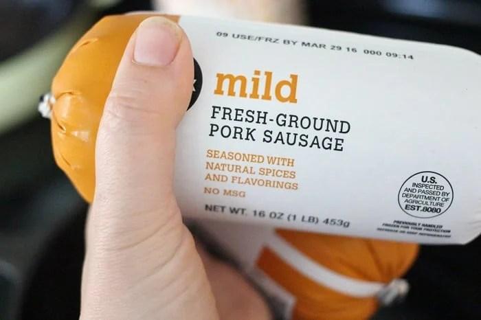 Mild pork sausage for Sweet Potato and Sausage Hash